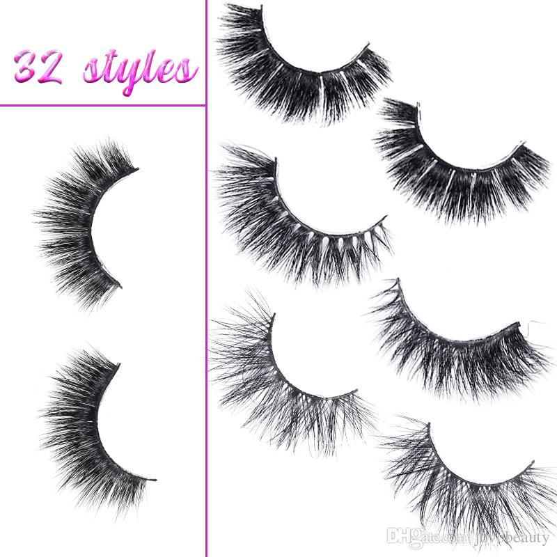 18f6ae75282 JOVOBEAUTY 3D Mink Eyelashes Private Label 32 Styles Selectable Soft ...