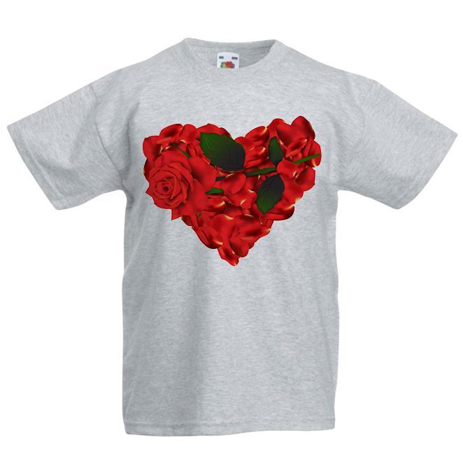 d50a64b40 Compre Camiseta Roja Para Niños Corazón De Amor De Rosas Rojas Niños Niños  Niñas Top Unisex Divertida Camiseta En Algodón 100% VINTAGE RETRO Camiseta  ...