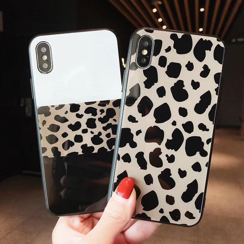 competitive price f96de 6582f Applicable leopard personality iPhone cae for X/XS/XS Max/XR mobile phone  case iPhone 8 plus/7/6s glass shell fashion back cover