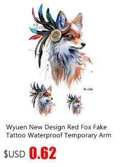 2017NEW Hot Design Temporary Tattoo for Adults Waterproof Tatoo Sticker Body Art Dinosaur and It's Bones Fake Tattoo Man Woman
