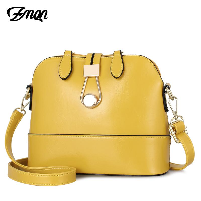 Women Crossbody Bags Leather Shell Yellow Bags Small Fashion Ladies Hand Bag For Women 2019 Girls Side Bolsa Feminina A534