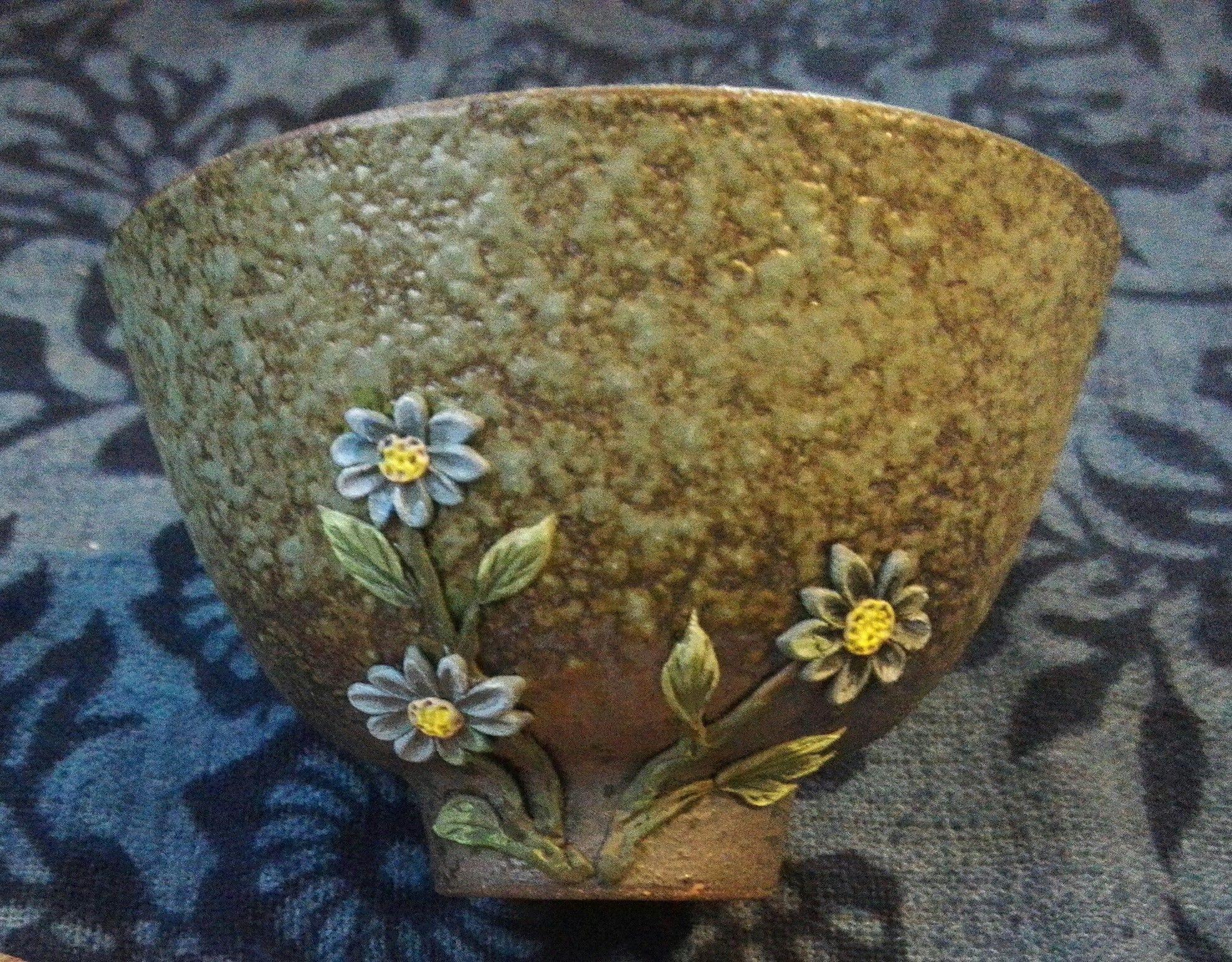 Großhandel Handgemachte Bodenton Skulptur Blume Spezielle