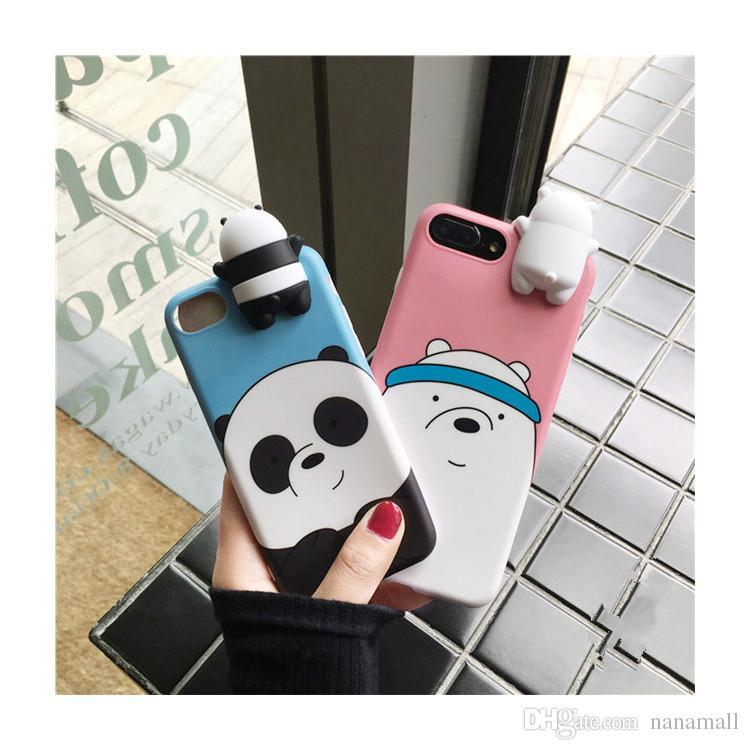 2019 3D cute cartoon case for iPhone 6 6+ 7 8 X SOFT Coque for Samsung s8 s9 plus