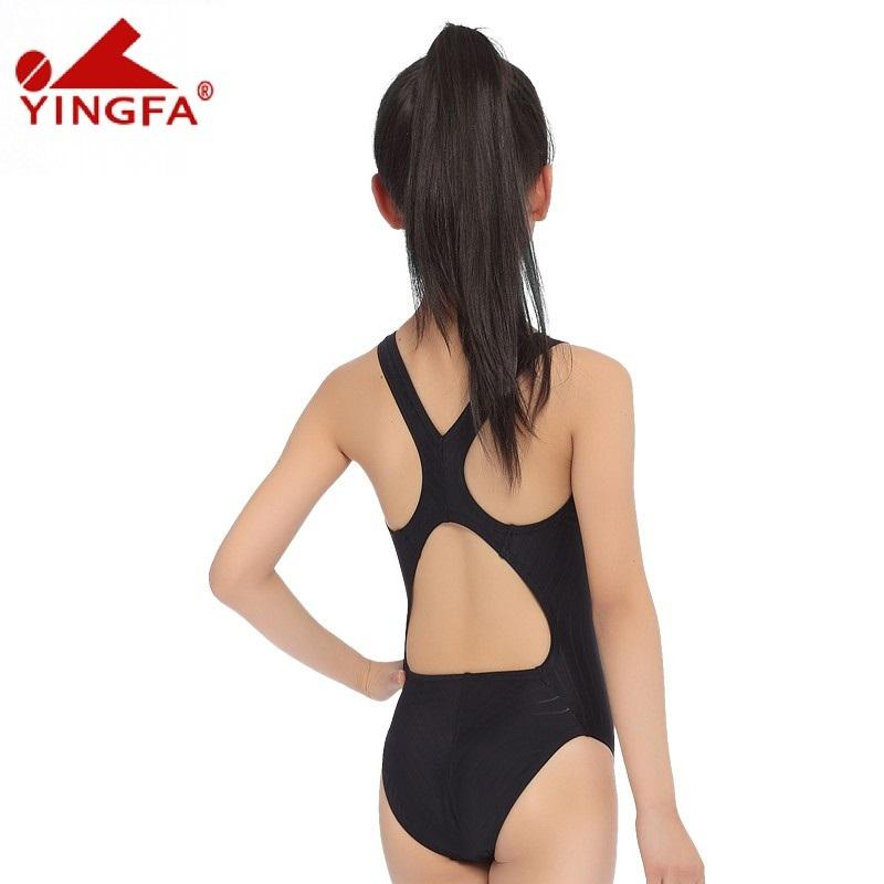 Yingfa Racing Children One Piece Swimsuits Kids Girls Swimwear Sports Baby Bathing Suits Bathers For Training Competition