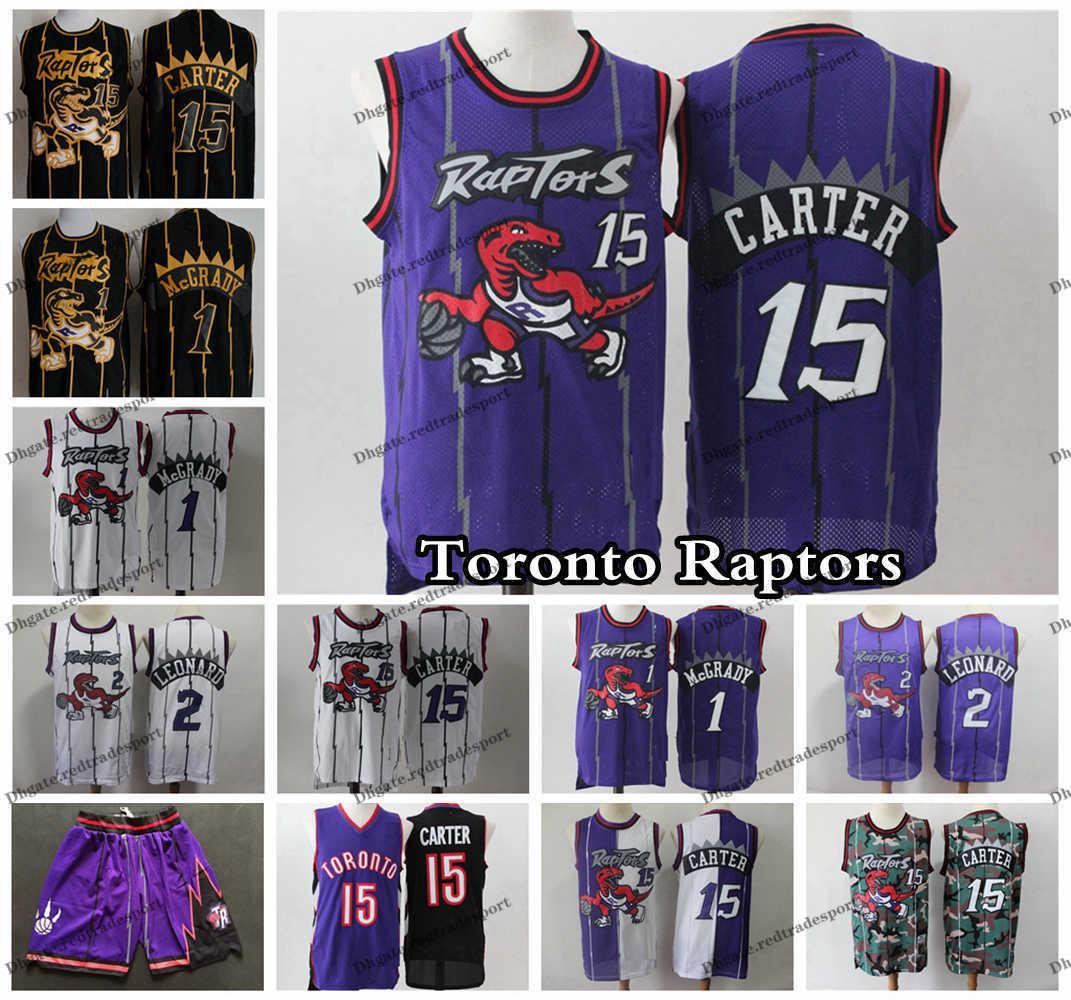 official photos d5019 5d97e Vintage Mens Raptor Tracy McGrady 1 T-Mac Vince Carter 15 Purple Basketball  Jerseys Toronto McGrady Carter Raptor Stitched Shirt Short