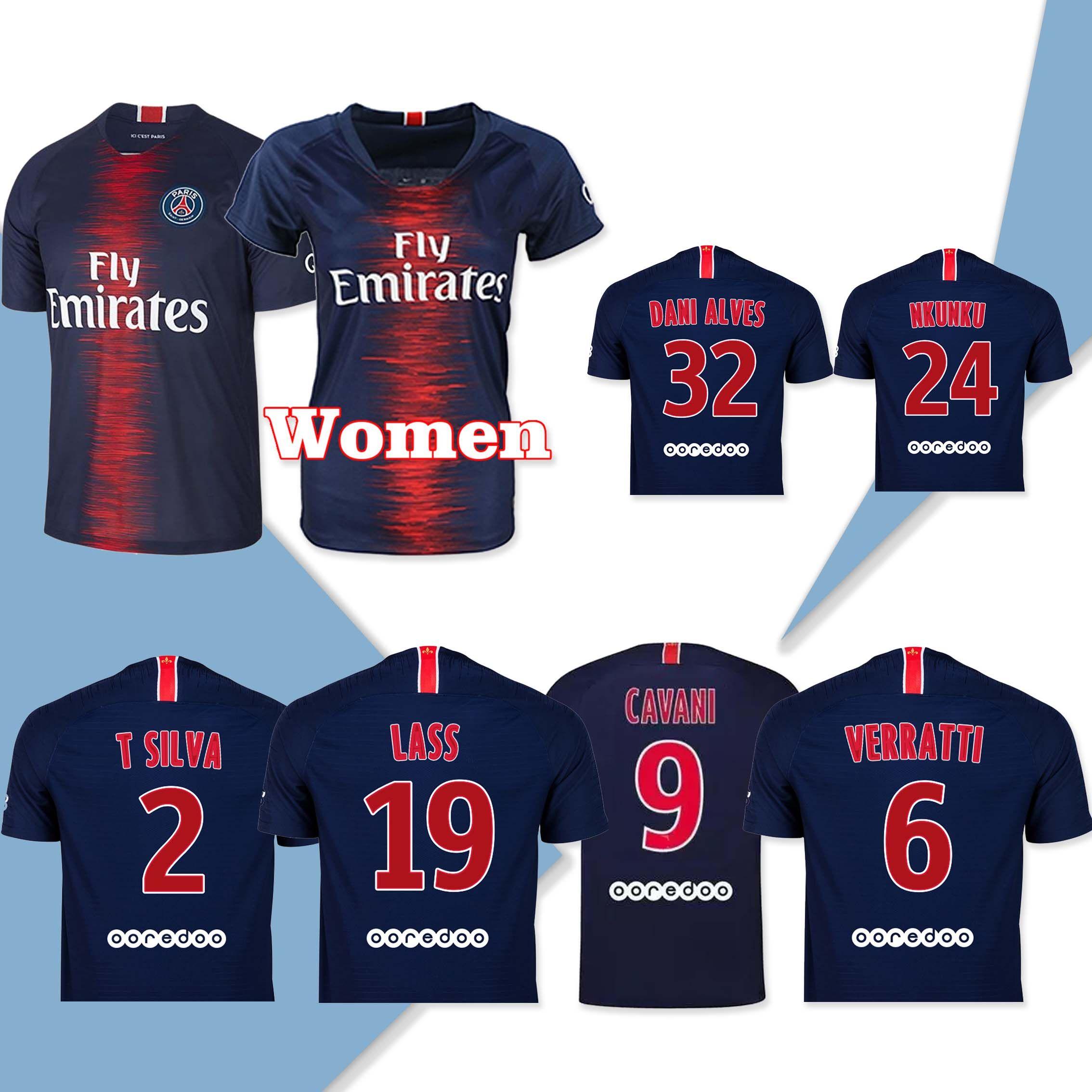 1b2fa1f6d9c86 2019 18 19 Player Version PSG  6 VERRATTI Home Soccer Jersey 2019 Paris  Saint Germain Home Soccer Shirt  9 Cavani  7 MBAPPE Football Uniform From  ...