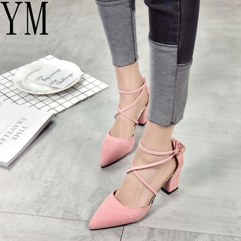 ba4cfea5a790 2019 Dress Hot Gladiator Sandals Women Shoes Sexy Pointed Toe Pumps Womens  Green Ladies Shoe Zapatos Mujer High Heels Wedding Plus Size 40 Mens Shoes  Online ...