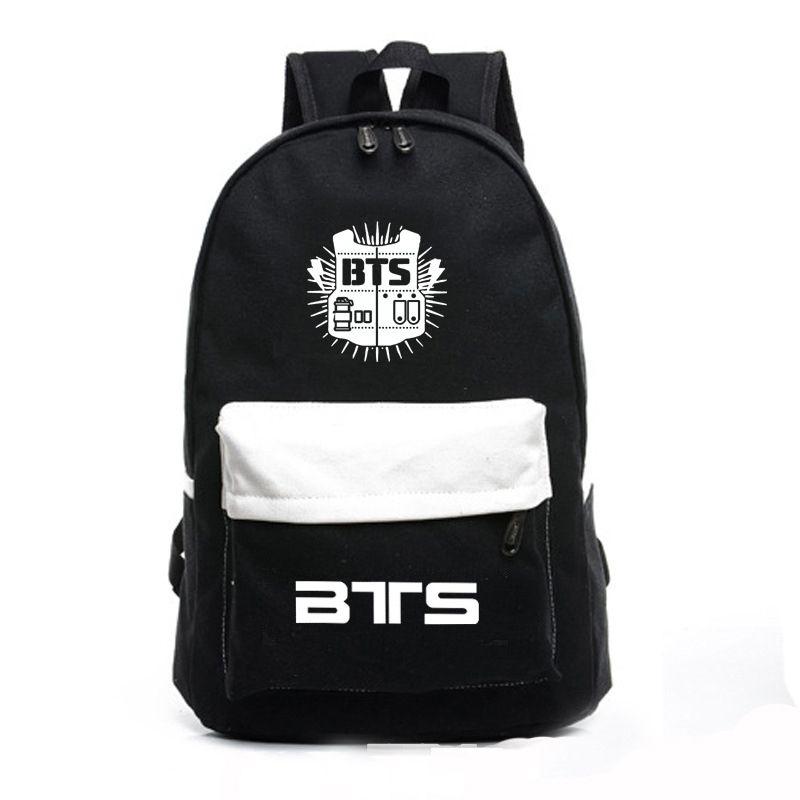 fb382d3ad3 High Quality Korean Backpacks Bts Fans Mochila Printing Backpack Kpop Stars  School Bag Boys Girls Gift Backpacks For Men Jansport Big Student Backpack  From ...