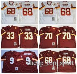 ea054c31 Washington 68 Russ Redskins Jerseys Cheap 9 Sonny Grimm Jurgensen 70 Sam 33  Sammy Huff Baugh Red White Uniforms Team Color High Quality