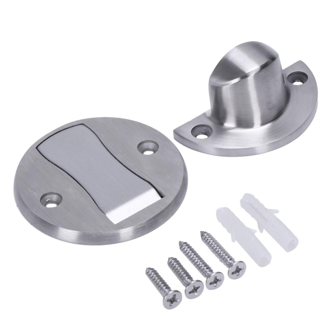 Magnet Door Stops Stainless Steel Door Stopper Magnetic Holder Toilet Glass Hidden Doorstop Furniture Hardware