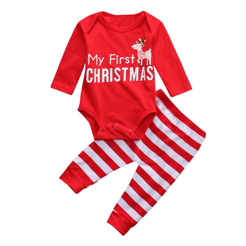 82df365e0805 2019 Christmas Clothes Newborn Infant Baby Girls Boys Deer Letter ...