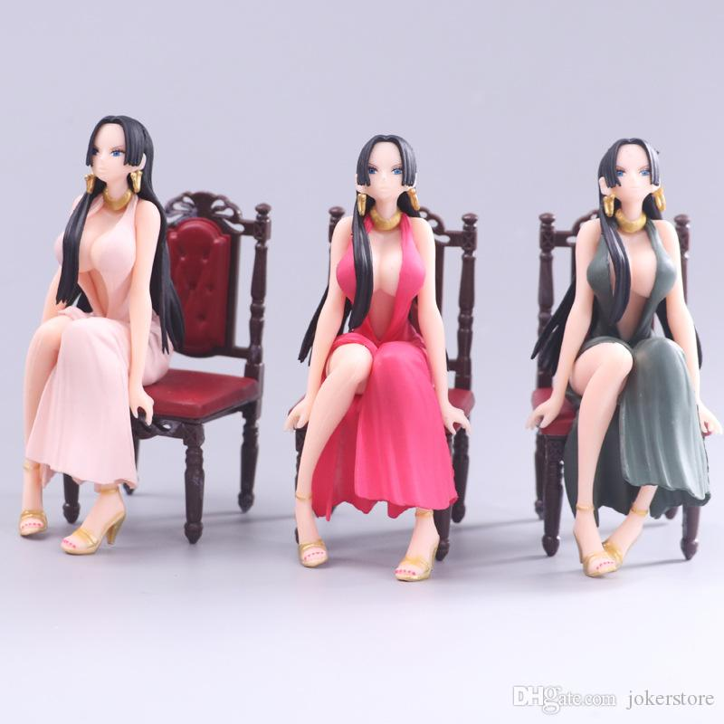 One Piece Boa Hancock Chair Anime Figure Action Figures Collectible Moble Toys Birthdays Gifts Doll New Arrvial Hot Sale PVC Free Shipping