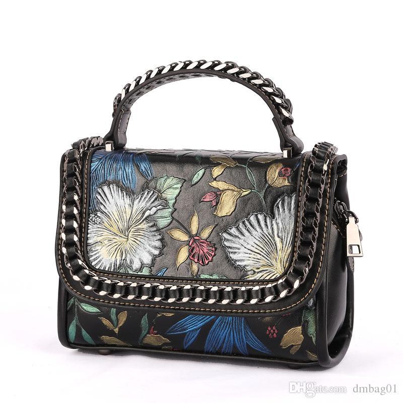 a8cf31f77909 Pink Sugao Genuine Leather Women Handbag Flower-printed Shoulder ...
