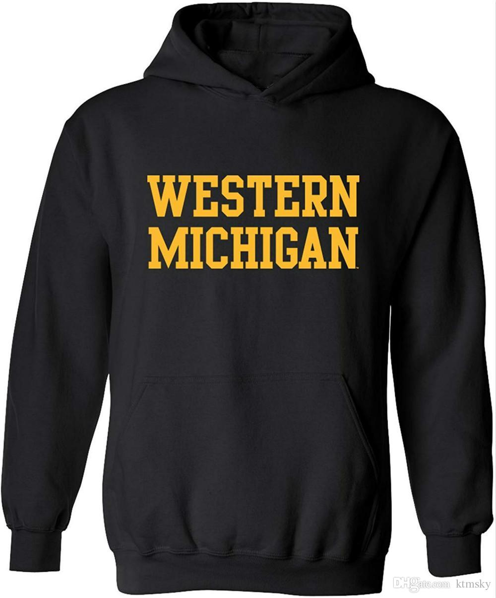 Western Michigan Licensed College Hoodie Sweatshirt
