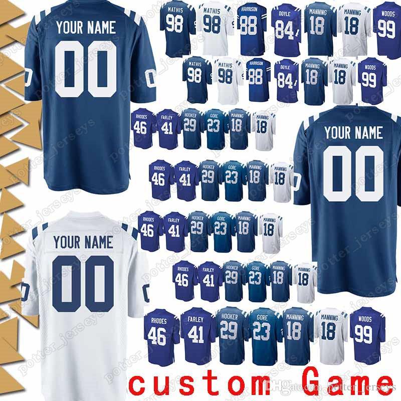 newest 42020 1d796 Indianapolis 84 Jack Doyle Jerseys Colts 88 Marvin Harrison 34 Trent  Richardson 23 Frank Gore 10 Donte Moncrief 29 Malik Hooker Jersey