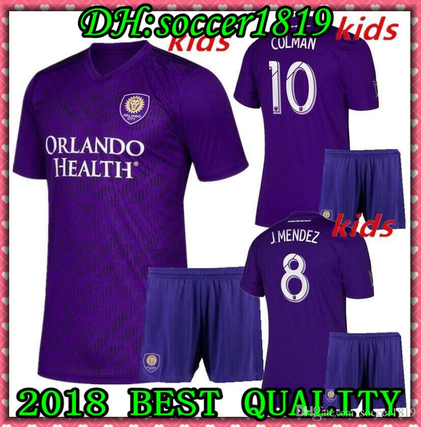 official photos c74f5 5ce49 2019 MLS kids Kit Orlando City Soccer Jerseys Kit NANI Orlando City Home  purple Soccer Shirt 2019 2020 #8 J.MENDEZ boy Football Uniform