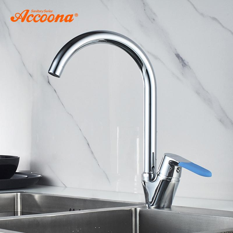 2019 Accoona Basic Kitchen Faucet Brass Water Tap Bar Sink Faucets