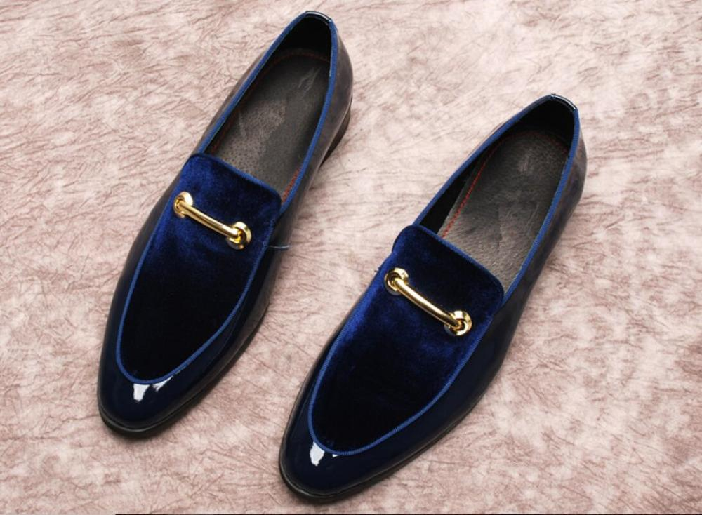 7cee068f0 Black Dark Blue Mens Suede Loafers Flats Slip On Summer Buckles Mens Prom  Fashion Elegant Shoes Mujers Wedding Derby Shoes Purple Shoes Cute Shoes  From ...