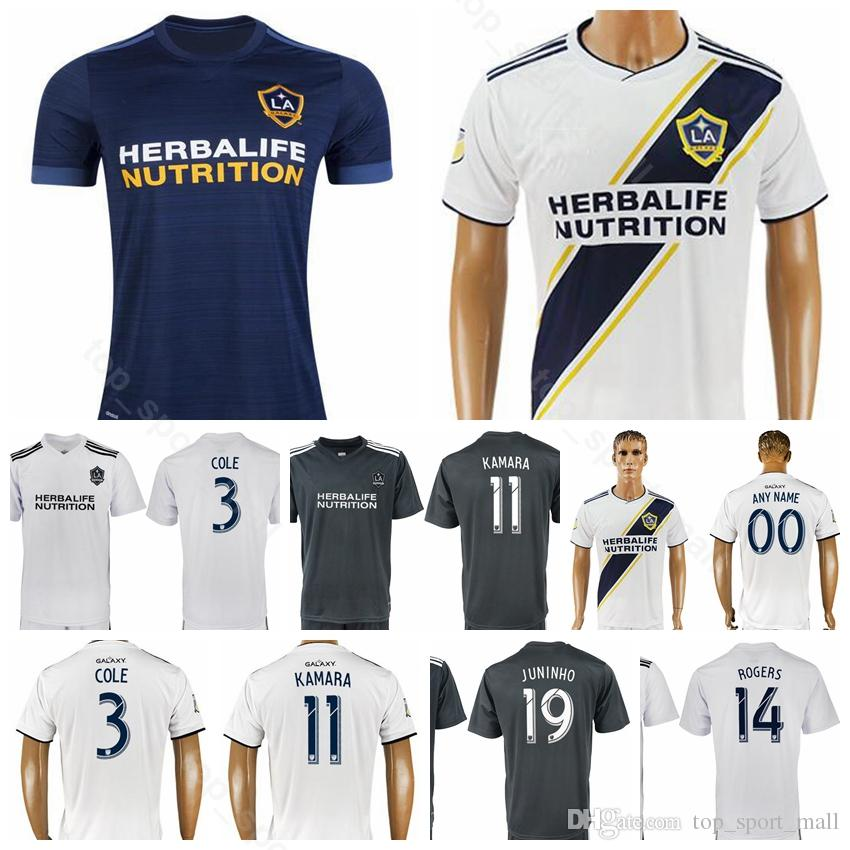 huge selection of b61eb 8e601 Los Angeles LA Galaxy Soccer 11 KAMARA Jersey 2018 2019 Men 24 BOATENG 3  COLE 16 SKJELVIK 1 BINGHAM Football Shirt Kits Uniform