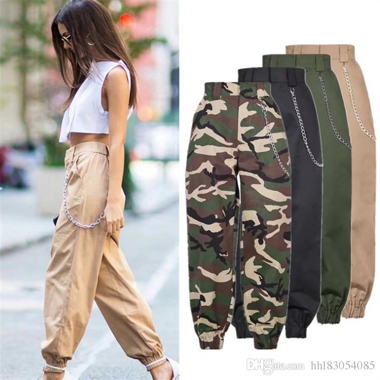 6500e9c09d935 2019 Spring New Women's High Waist Joggers Long Trousers Casual ...