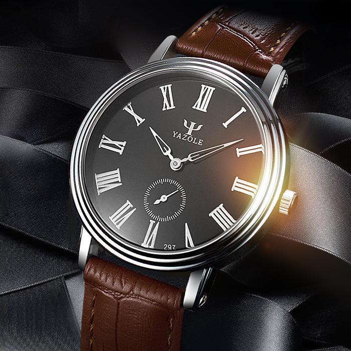 c2ac8f2119f4 Compre Moda Pequeña Segunda Mano Dos Agujas Business Affairs Hombre  Ultrafino Relojes De Pulsera Hombre Reloj De Pulsera Dos Agujas Reloj  Impermeable A ...