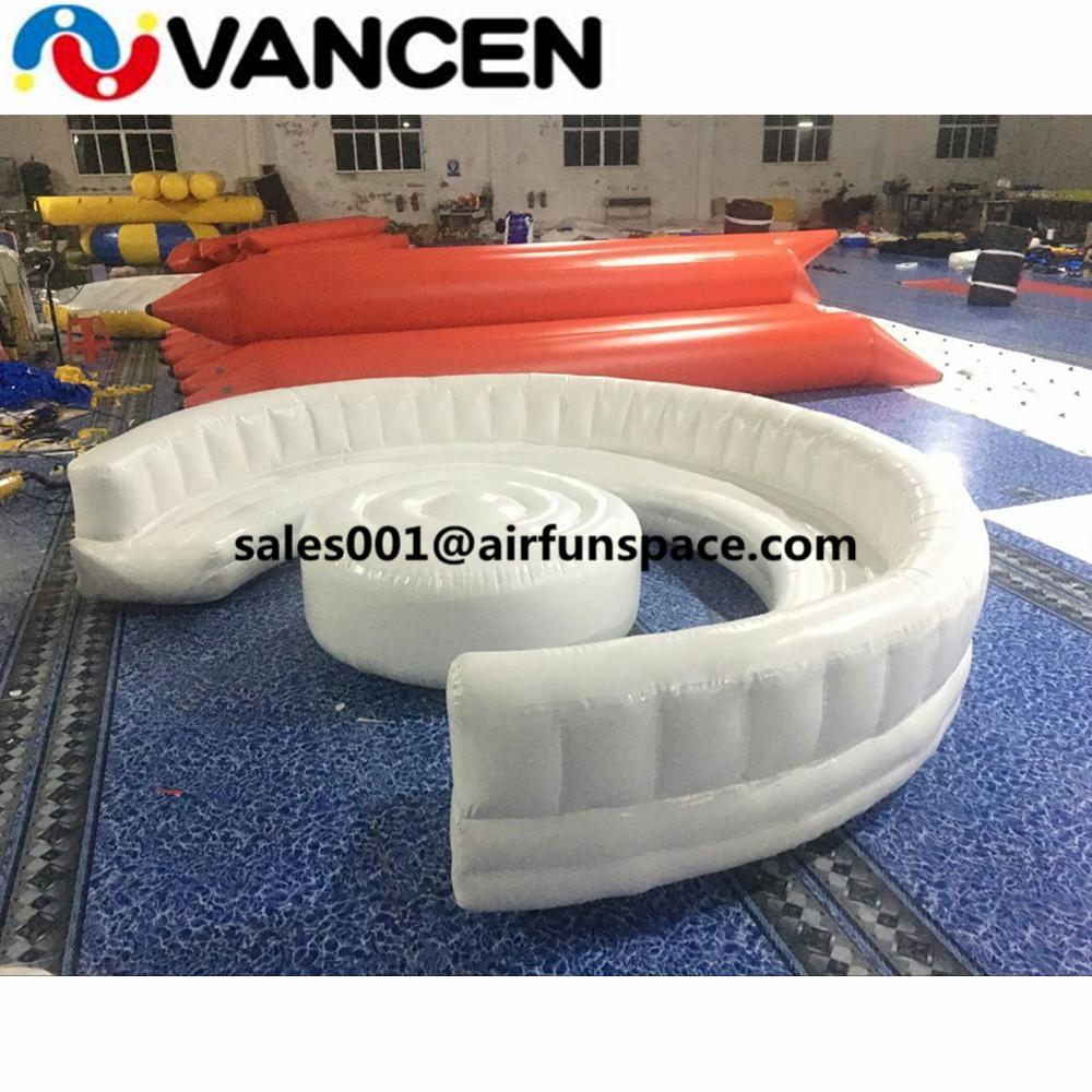 2fea14f854ee Мода ПВХ брезент надувной диван комбо 1.5 м диаметр стола мебель для дома  надувной диван вышибала с бесплатным воздушным насосом