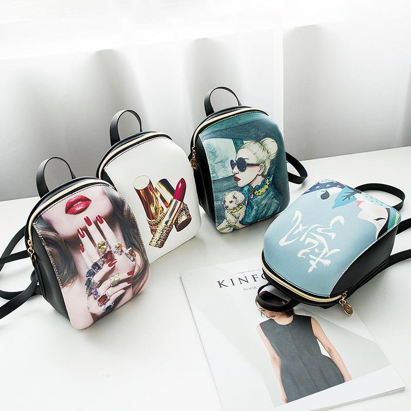 Wild2019 Woman Bag Both Shoulders Small Backpack Women's Singles Shoulder Handbag Messenger Mini- Mobile Phone Package