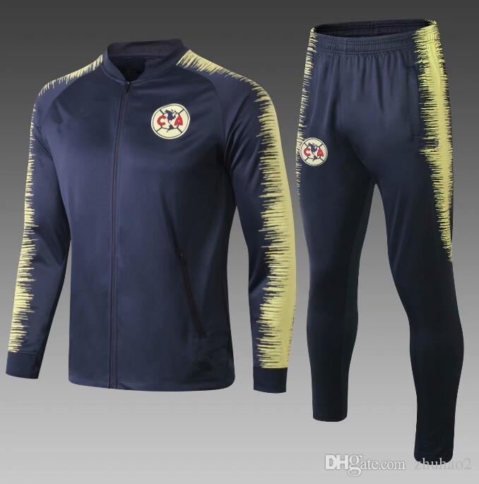 fa70e345b6b 2019 2020 Jacket Club America 2019 Mexico LIGA MX Club America Jacket  Soccer Tracksuit Club A.PULIDO Football Sports Wear Kit From Zhuhao2,  $34.52   DHgate.