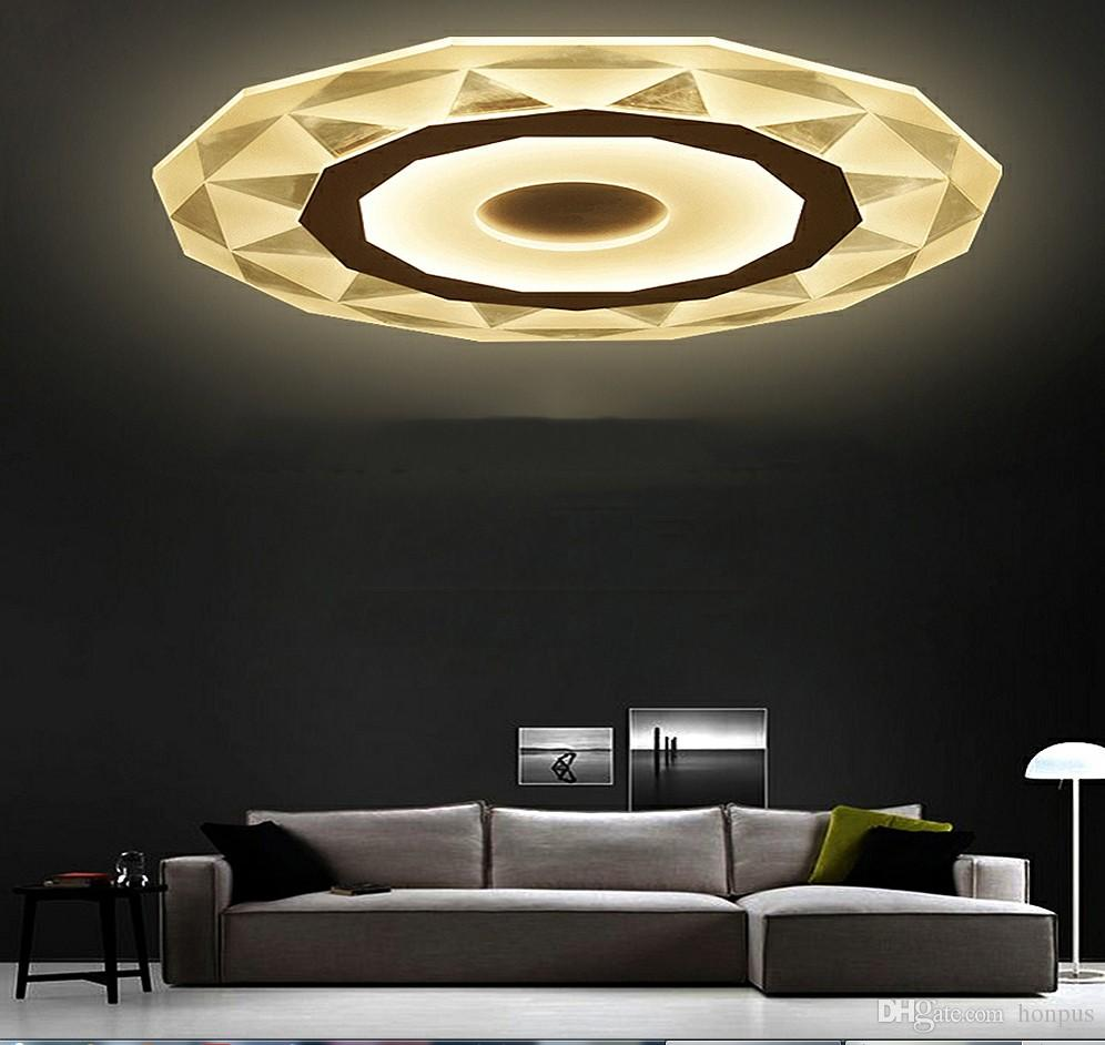 Lights & Lighting Remote Control Led Ceiling Light With Ultra-thin Acrylic Lamp Ceiling For Living Room Bed Room Flush Mount Lamparas De Techo
