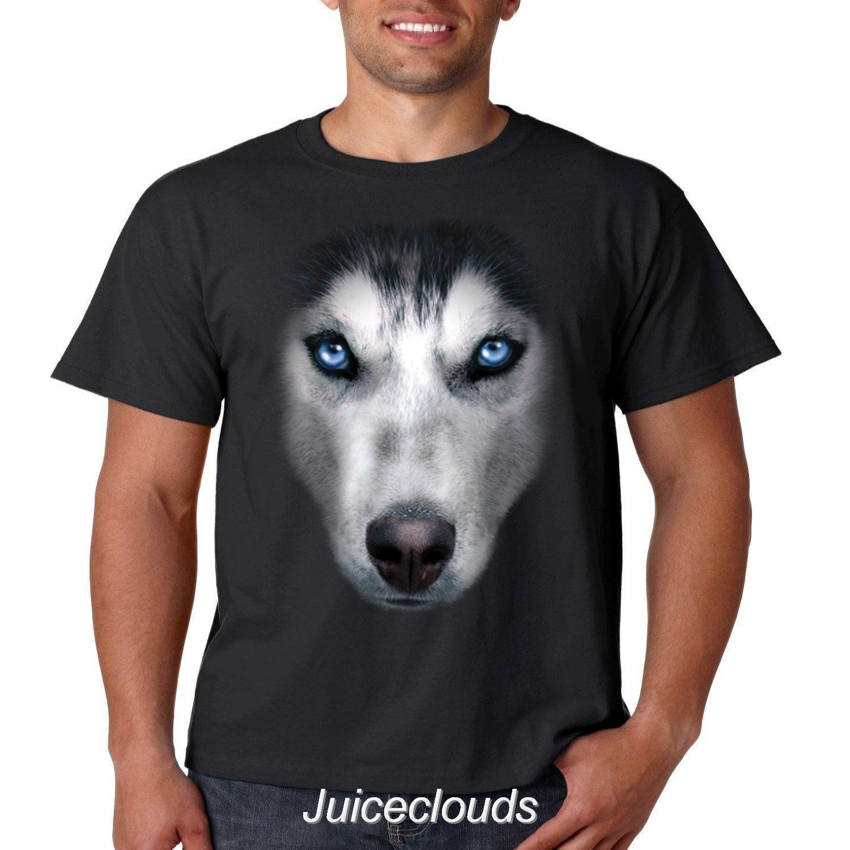 ceba6278 Siberian Husky T Shirt Big Husky Face Dog Puppy Pet Friend Men'S Tee ...