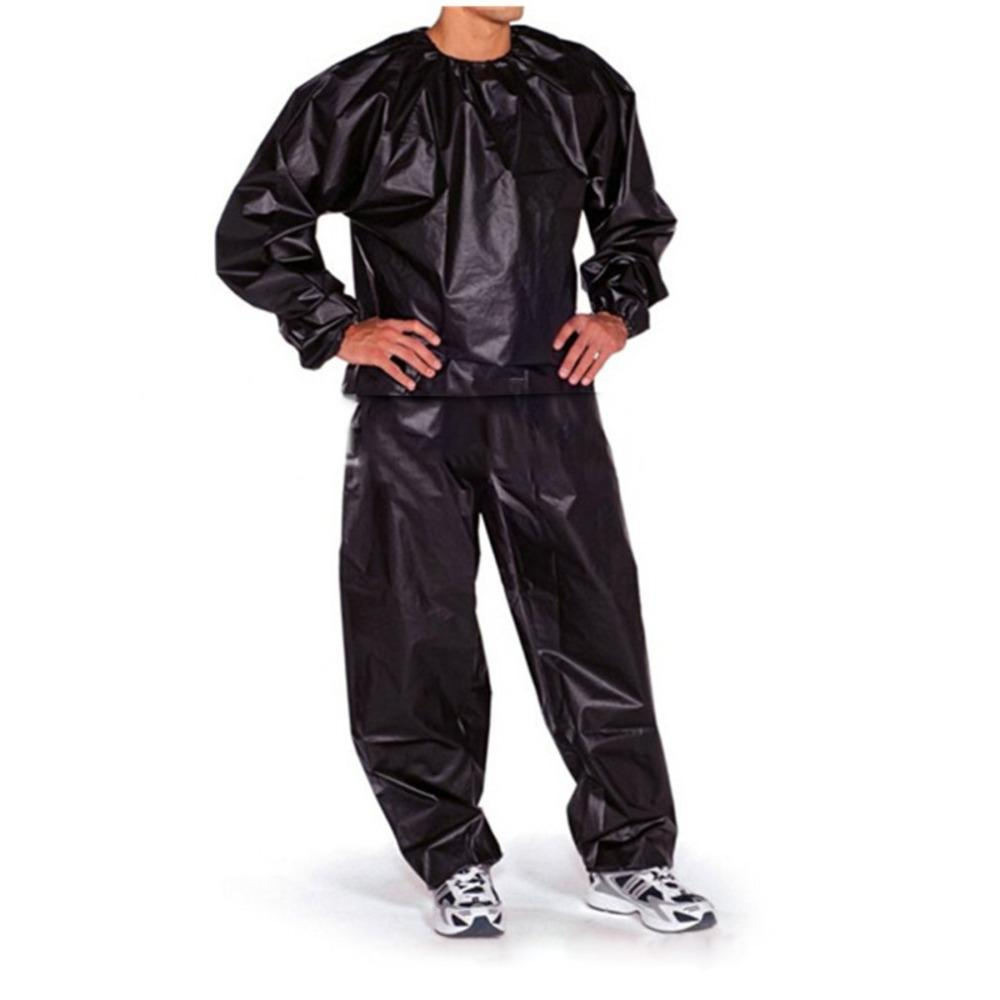 Waterproof Windproof Pvc Sauna Suit Anti Rip Training Fitness Weight Loss Sport Sauna Clothes Solid Color Gym Suit