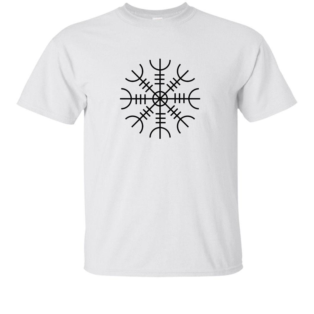 f4e233332 Viking T Shirt The Helm Of Awe Symbol Of Protection Celtic Tee Present Gift  IdeaFunny Unisex Casual Tshirt Shirts And T Shirts Buy Cool T Shirts From  ...