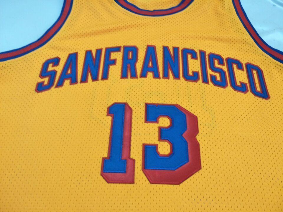 1bf0fe8c8 Vintage Sanfrancisco 1962-63 Wilt Chamberlain  13 Real Full ...