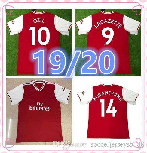Adulto De Arsenal Aubameyang Özil Football 2020 19 Hombre Shirt 2019 Xhaka Camisetas Jersey Camiseta 20 Lacazette Soccer Tailandia Fútbol DEH2YW9I