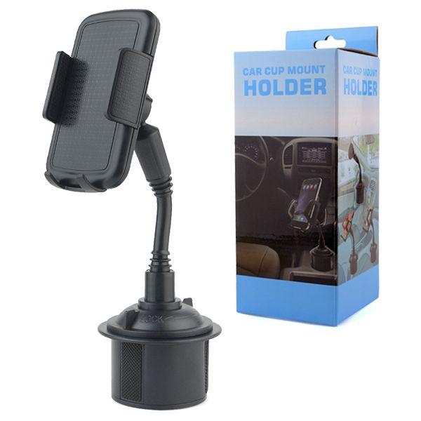 innovative design 6e9e3 942e9 GPS Phone Car Cup Holder Mount 2in1 Car Cradles Adjustable Gooseneck Holder  for iPhone X 8 Plus Samsung S10 Huawei P30 pro