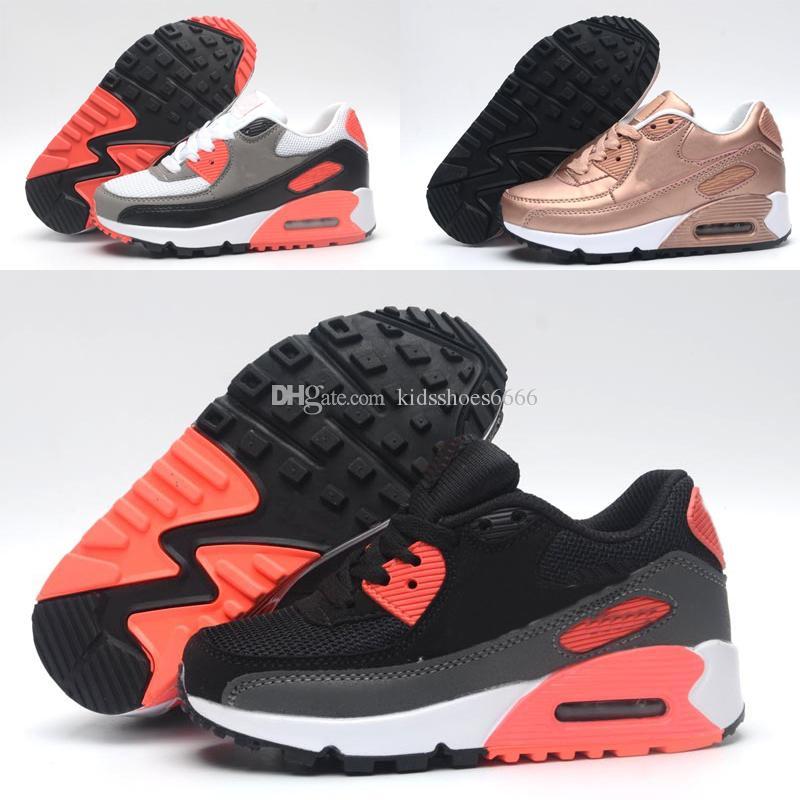 new concept a8068 5938b Acheter 2018 Nike Air Max 90 2018 Enfants Sneakers Presto 90 II Enfants  Sports Orthopédique Jeunesse Enfants Formateurs Infant Filles Garçons  Chaussures De ...