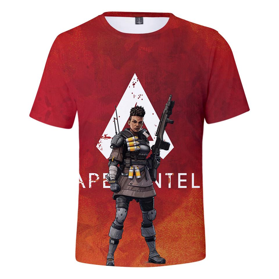 Frdun The New 3D Apex Legends T-Shirt Uomo / Donna Hot Games Apex Legends Soft 3D T-shirt Harajuku Summer Tops