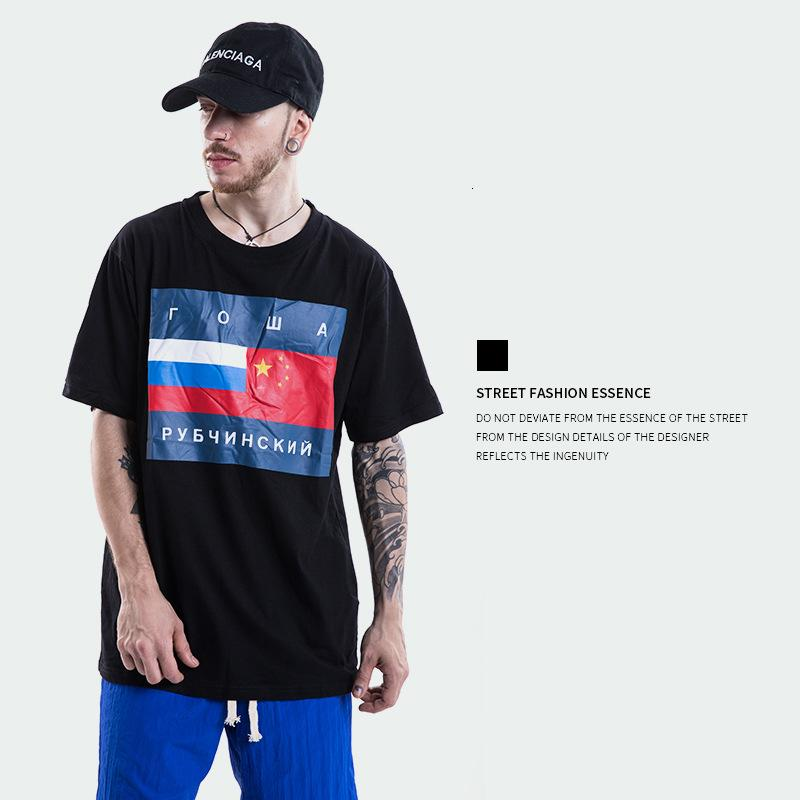 Summer 18 Tide Wear Over Size Head Portrait Printing High Street Men's Style Shirt T Shirts