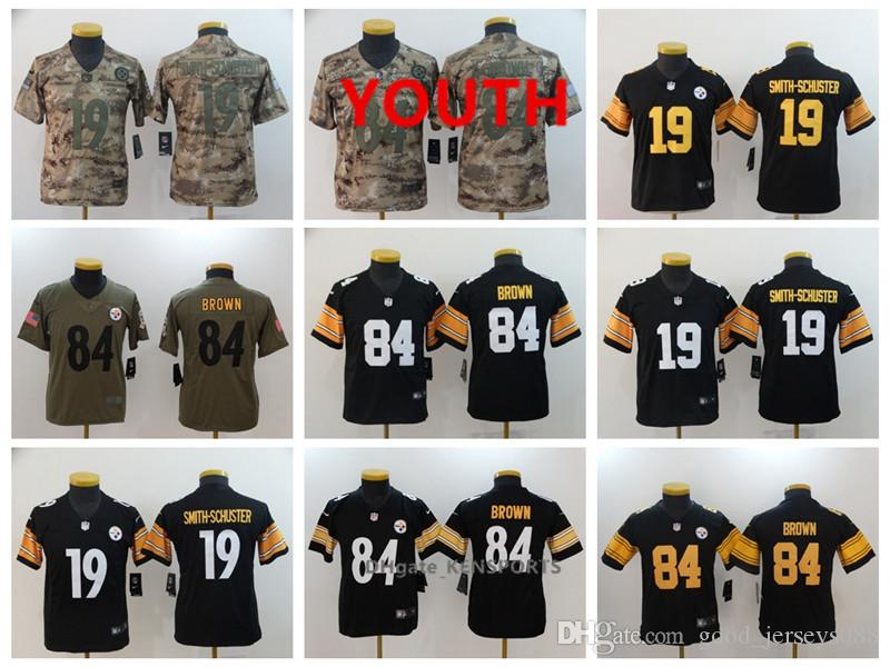 09bc62eba Youth Pittsburgh Football Steelers Jersey 19 JuJu Smith-Schuster 84 ...
