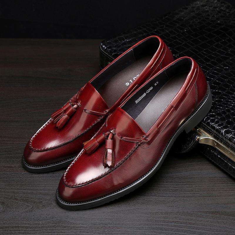 363910ff3bb Compre KELUOTE 2019Mix 20 Modelos Zapatos De Vestir De Cuero De Diseñador  De Lujo Italianos Zapatos De Boda Para Hombres En Piel De Ante Para Hombre  ...