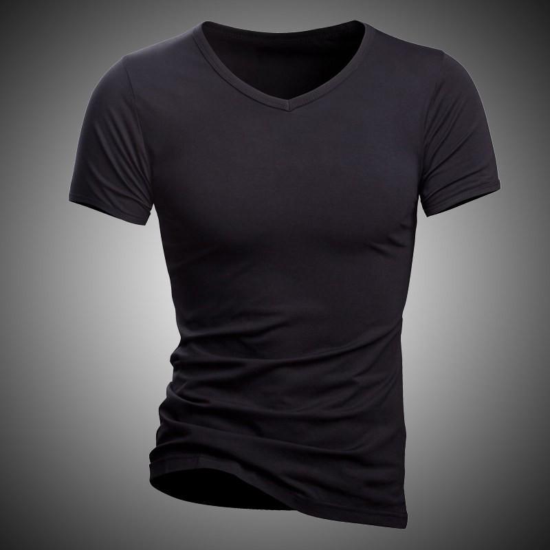 cd4cb025ae45a Acheter Nouveau Hommes Sous Chemise Solide 100% Coton Qualité T Shirt  Marque Fitness Porter À L'intérieur T Shirt Homme Sous Vêtements Casual T  Shirt Hommes ...