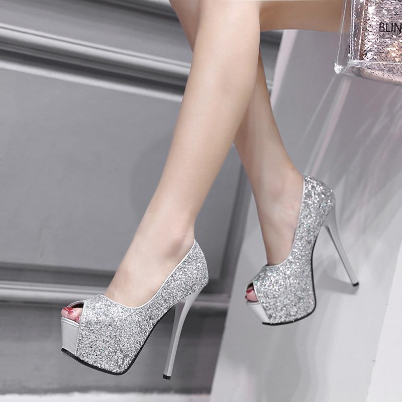f22c092fbdb Dress Women Pumps Bling Personality Sexy High Heel 13.5cm Shoes Women Peep  Toe Pumps Car Show Female Pumps Shoes Sandals Party Shoes Basketball Shoes  Mens ...