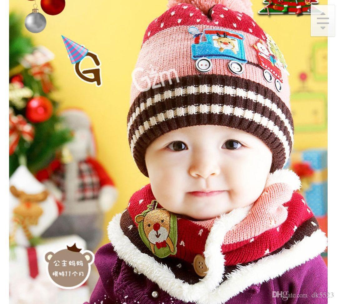 Compre Gorro De Punto De Bebé Versión Coreana De Chao Gorro De Lana  Invierno Navidad Niños Cálido Oído Bufanda A  29.45 Del Dk5523  9aa12e9fd71