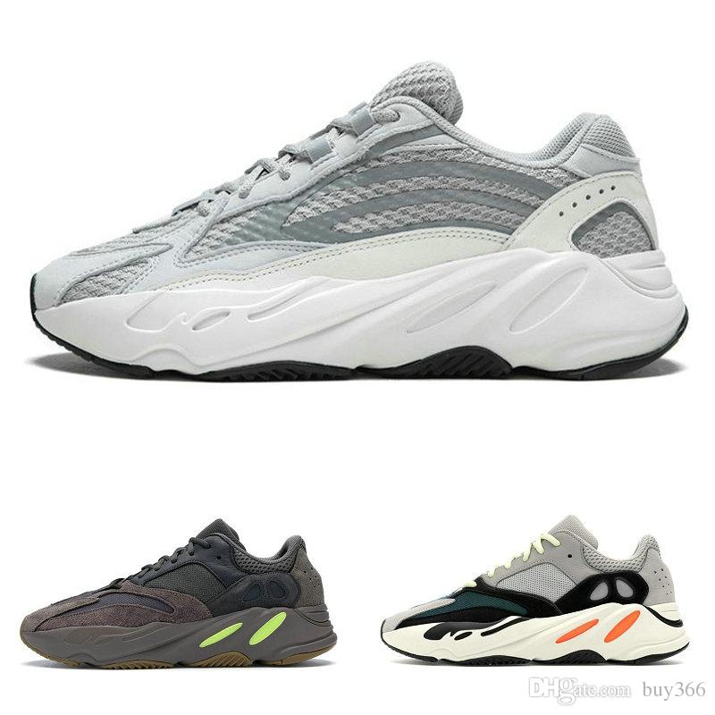 separation shoes b3edb 660a3 Mauve 700 Wave Runner 700 V2 Static With Box Mens Women Designer Sneakers  Kanye West Solid Grey Triple Sesame Butter Sport Shoes US13