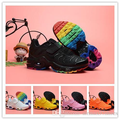 2b719a1a55 2019 Toddler Kids Mercurial TN Plus Running Shoes 2019 Tn Rainbow ...