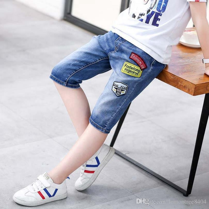 Children Jeans Mid lenght shorts for boys soft denim summer beach shorts bottom clothes for girl pants cotton shorts 110-160cm