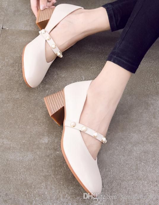 Perlas Otoño Y En De Con Compre Mujer Para Primavera 2018 Zapatos qRawxA4