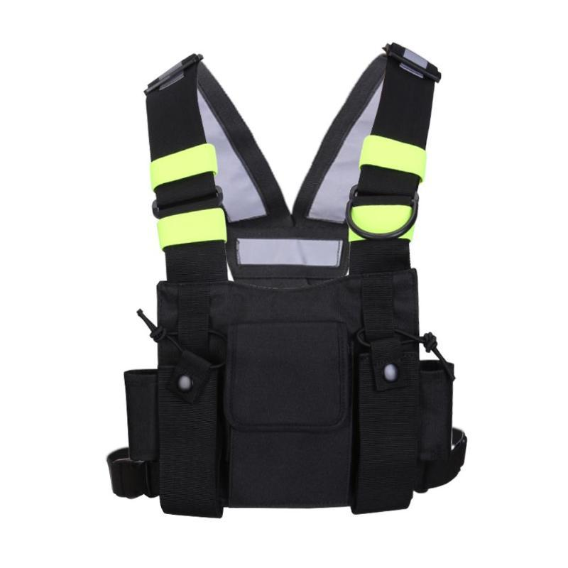 Nylon Two Ways Radio Pouch Chest Pack Walkie Talkie Bag for Baofeng UV-5R