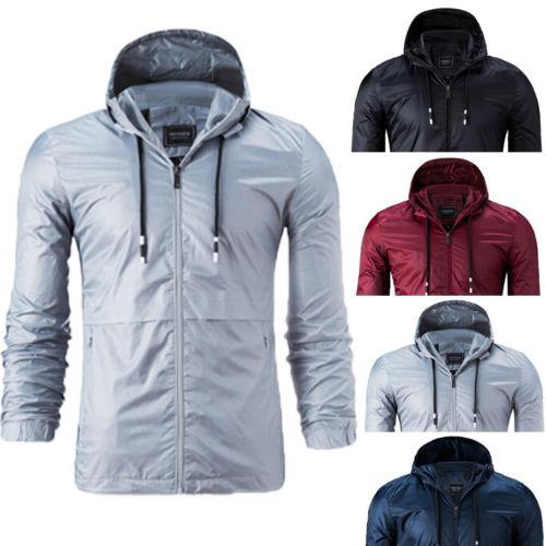 53aa3345fdd3 New Spring Summer Mens Fashion Outerwear Windbreaker Men  S Thin Jackets  Hooded Casual Sporting Coat Plus Size 4XL Leather Bomber Jackets For Men  Coats And ...