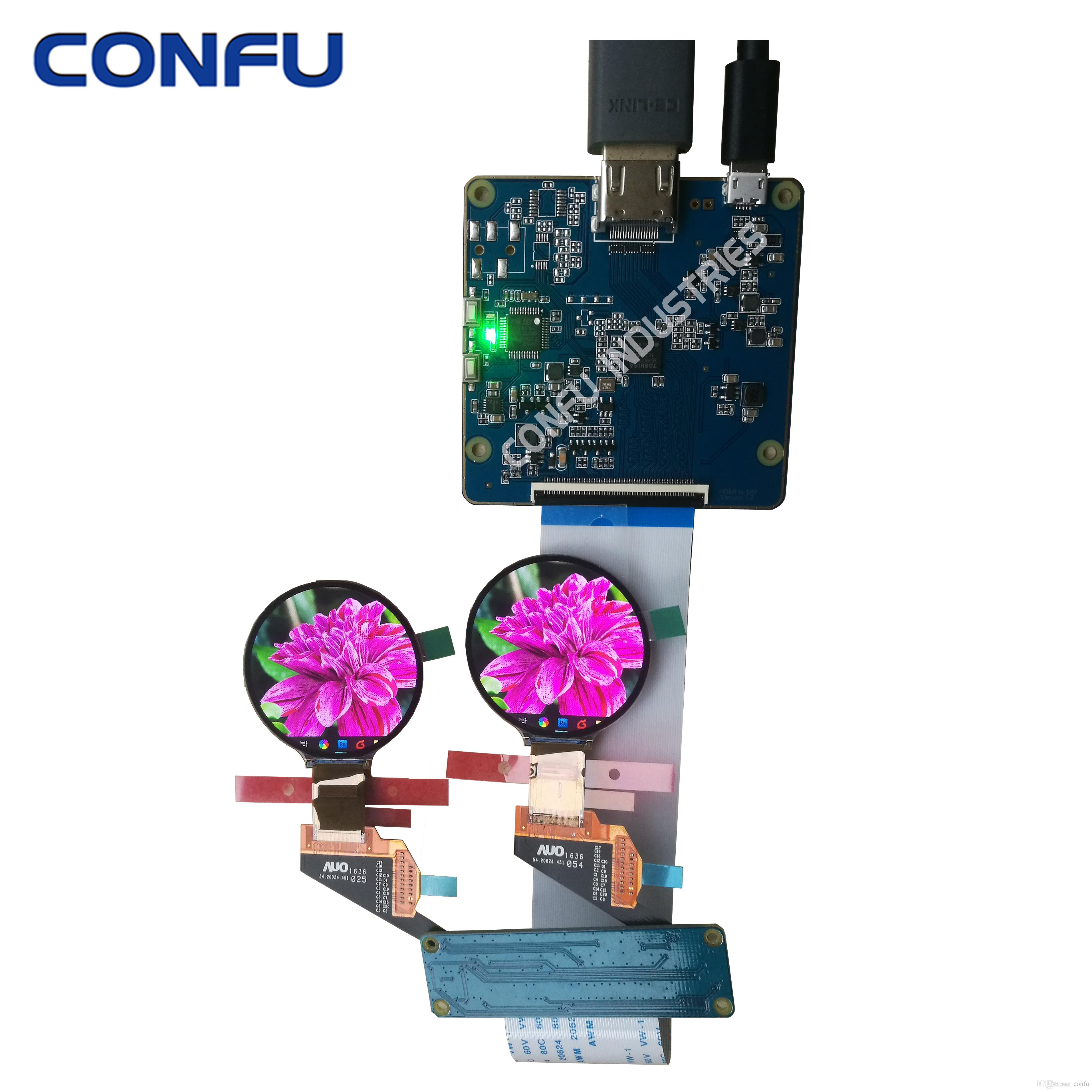 Confu HDMI to MIPI DSI driver board AUO H139BLN01 2 1 39 inch circular  round shaped AMOLED display mipi interface OLED China